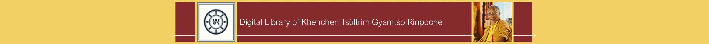 Logo of Digital Library of Khenchen Tsültrim Gyamtso Rinpoche